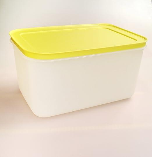 Tupperware congelación 2,5 l de hielo de cristal amarillo/blanco ...