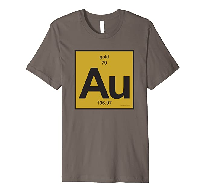 Amazon au gold t shirt periodic table of elements clothing mens au gold t shirt periodic table of elements 2xl asphalt urtaz Images