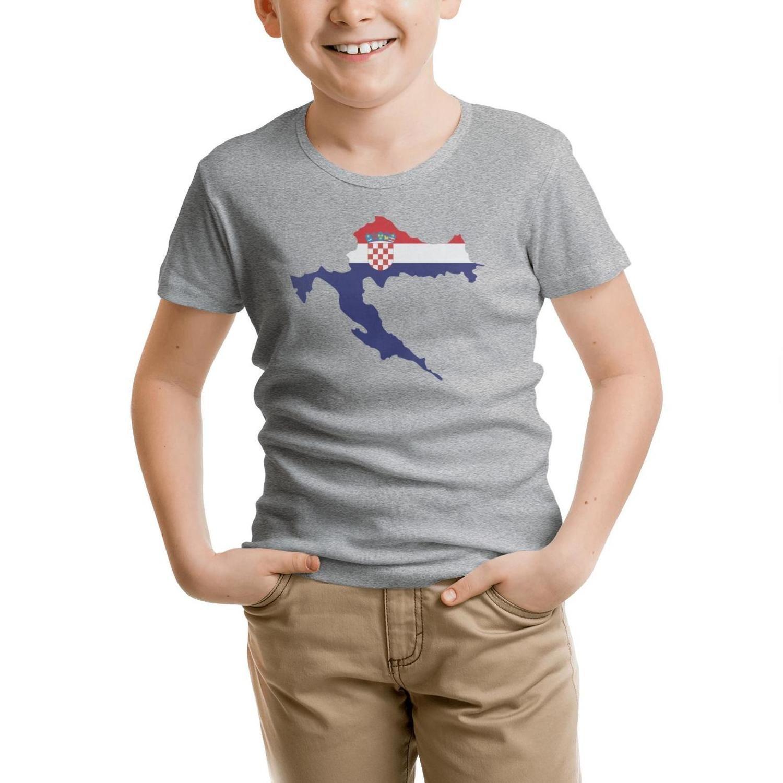 ddasqas Croatia map Croatia Coat of Arms Toddler Short-Sleevet Shirts Kids Shirts