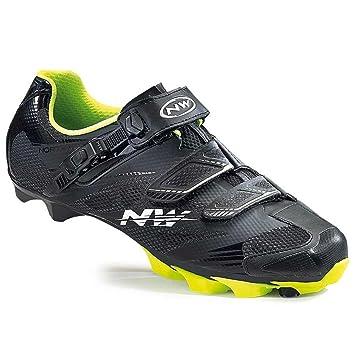 Northwave Scorpius 2 SRS MTB Fahrrad Schuhe schwarzgelb