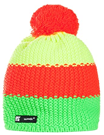 3ce790052e5 4sold Kids Knitted Wolly Style Beanie Lolly Ponpon Men s Women s Winter  Warm SKI Snowboard Hats FLUOCCO