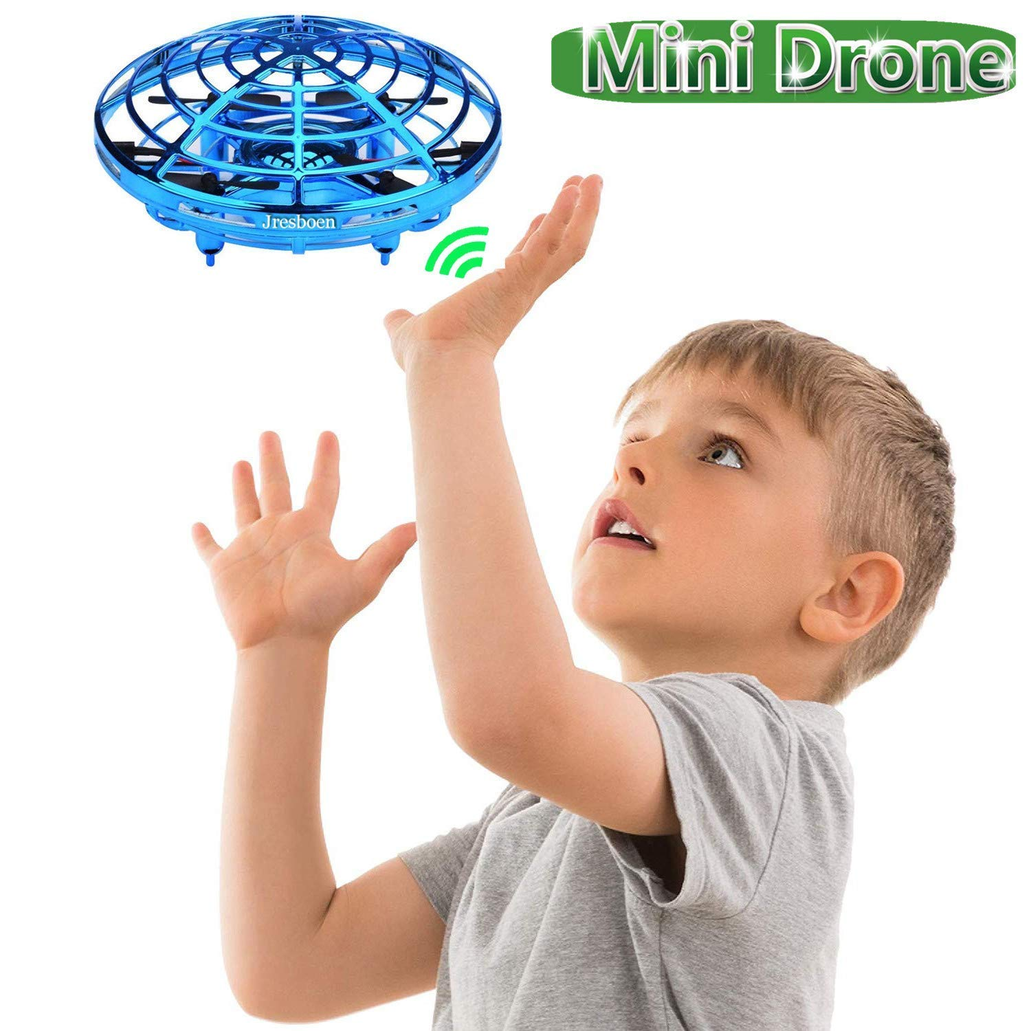 UFO Flying Ball Drone Toys, Jresboen [updated] Mini Drone Helicopter Infrared Sensing & Automatic Obstacle Avoidance Mini Quadcopter Drone Induction Aircraft Flying Saucer Toy Gift for Boys Girls Kids