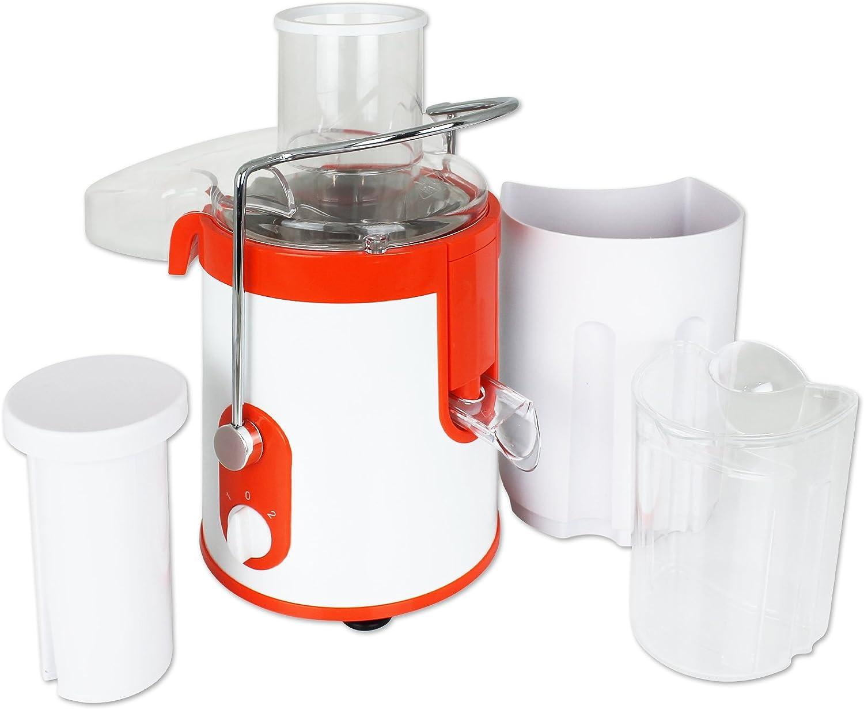 Entsafter Saftpresse Fruchtentsafter elektrisch 500W wei/ß orange