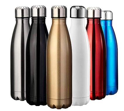 Yooger Botella de Agua, Doble Pared con Aislamiento de Botella Agua de Acero Inoxidable Botellas de Frío/Caliente, sin bpa Botella Reutilizable para ...