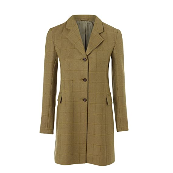 917cfc70db0e York 115  Women s Green Tweed Coat  Amazon.co.uk  Clothing