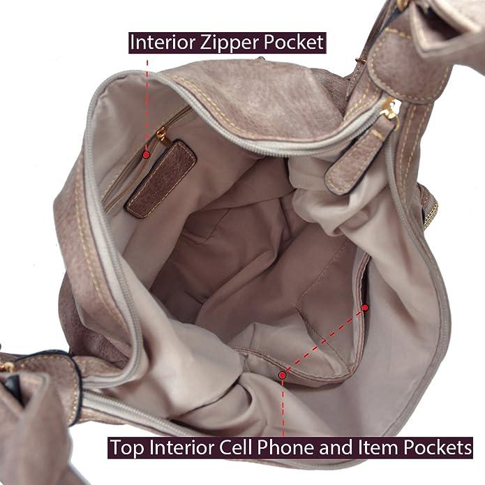 Amazon.com: Dasein Convertible bolso bolsas de hombro suave ...