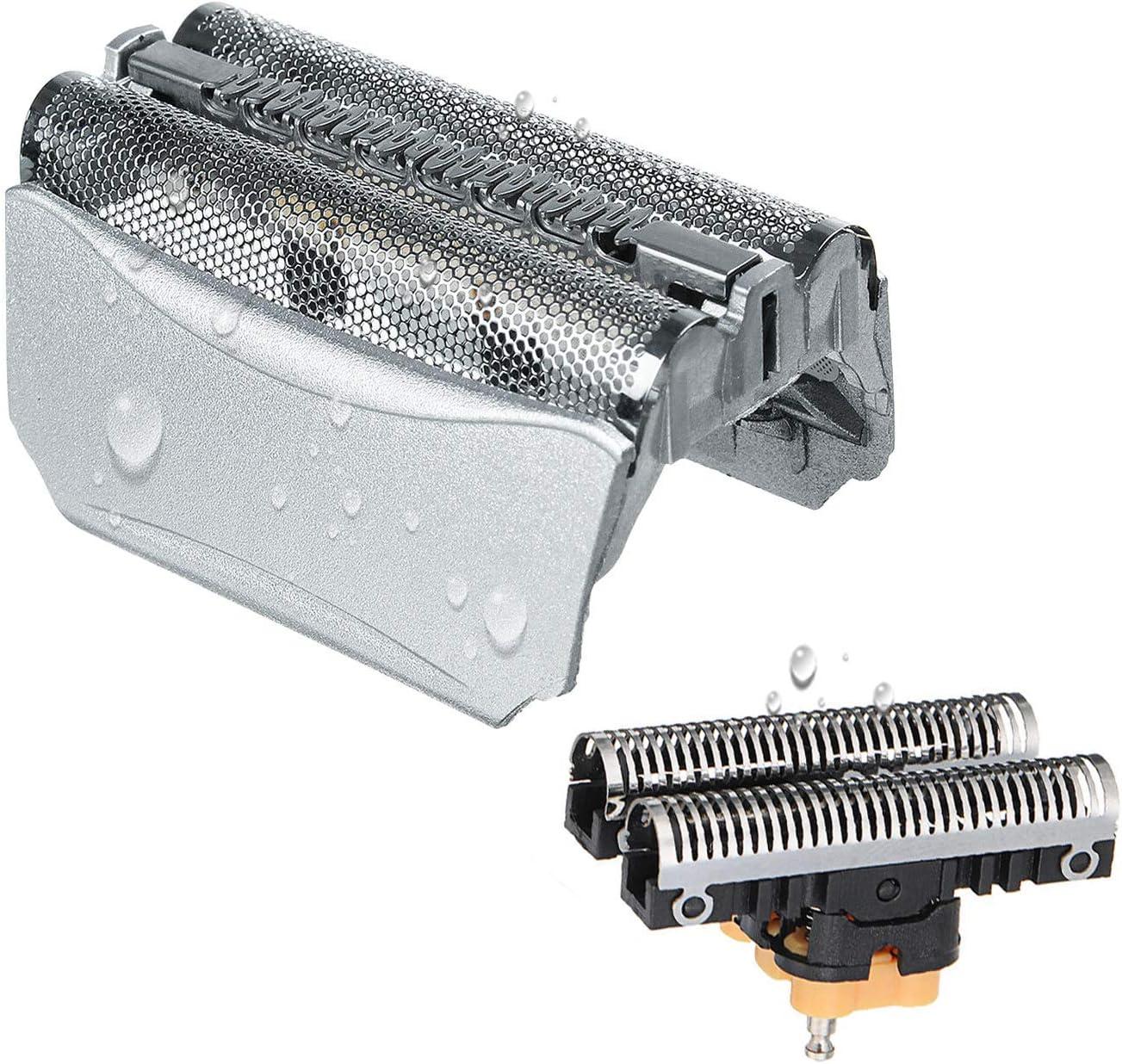 51S Cabezales de Afeitado para Braun Afeitadora Eléctrica Hombre, Poweka Series 5 Recambio de Lámina y Cuchillas Compatible con Braun 8000 Series 360 Complete Activator ContourPro