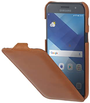StilGut UltraSlim, Housse Samsung Galaxy A3 (2017) en Cuir. Etui de  Protection d87078c193b7