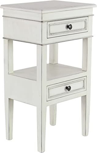 Deco 79 90633 Side Table, White