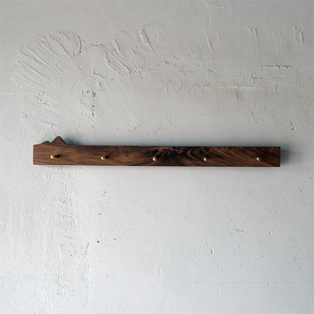 Solid wood Wall-mounted coat rack Coat hooks Garment rack,Modern Art Original Commercial grade-A 60x7x3cm(24x3x1inch)