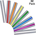 Chinco 32 Pieces Guided Reading Strips Highlight Strips Colored Overlays Colorful
