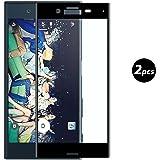 (2 Pack)Sony Xperia X Protection écran, EUGO 3D [Couverture Complète] Film protecteur d'écran pour Sony Xperia X - Noir