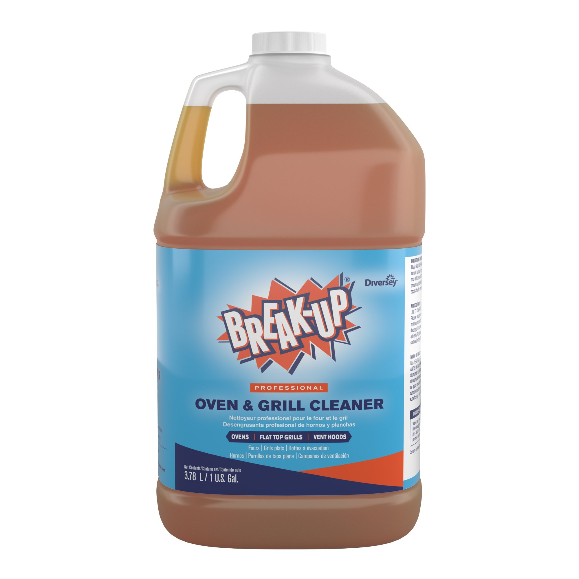 Diversey Break-up Professional Oven & Grill Cleaner, 1 Gallon (4 Pack)