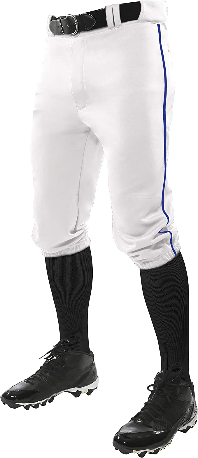 Amazon.com : CHAMPRO Triple Crown Knicker Style Youth Baseball Pants with Contrast-Color : Sports & Outdoors
