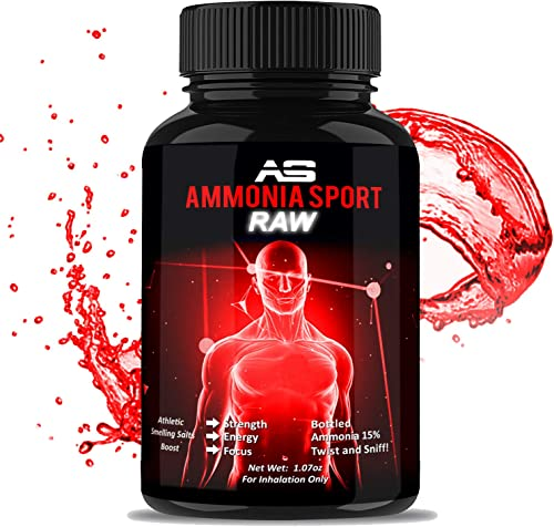 Smelling Salts – RAW – 100 s of Uses Per Bottle – Add Water to Activate – For Advanced Users – STRONGEST Smelling Salt For Athletes – Ammonia Inhalant – Adrenaline Supplement – AmmoniaSport