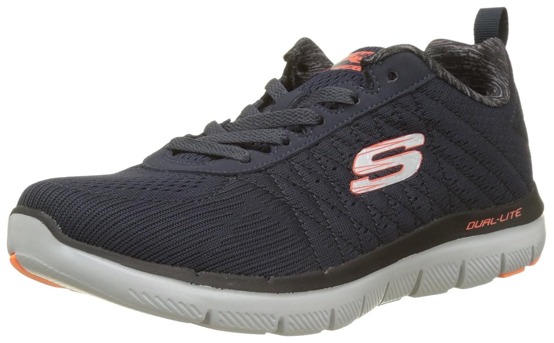 Skechers Flex Advantage 2.0-The Happs, Zapatillas para Hombre 41 EU|Azul (Dark Navy)