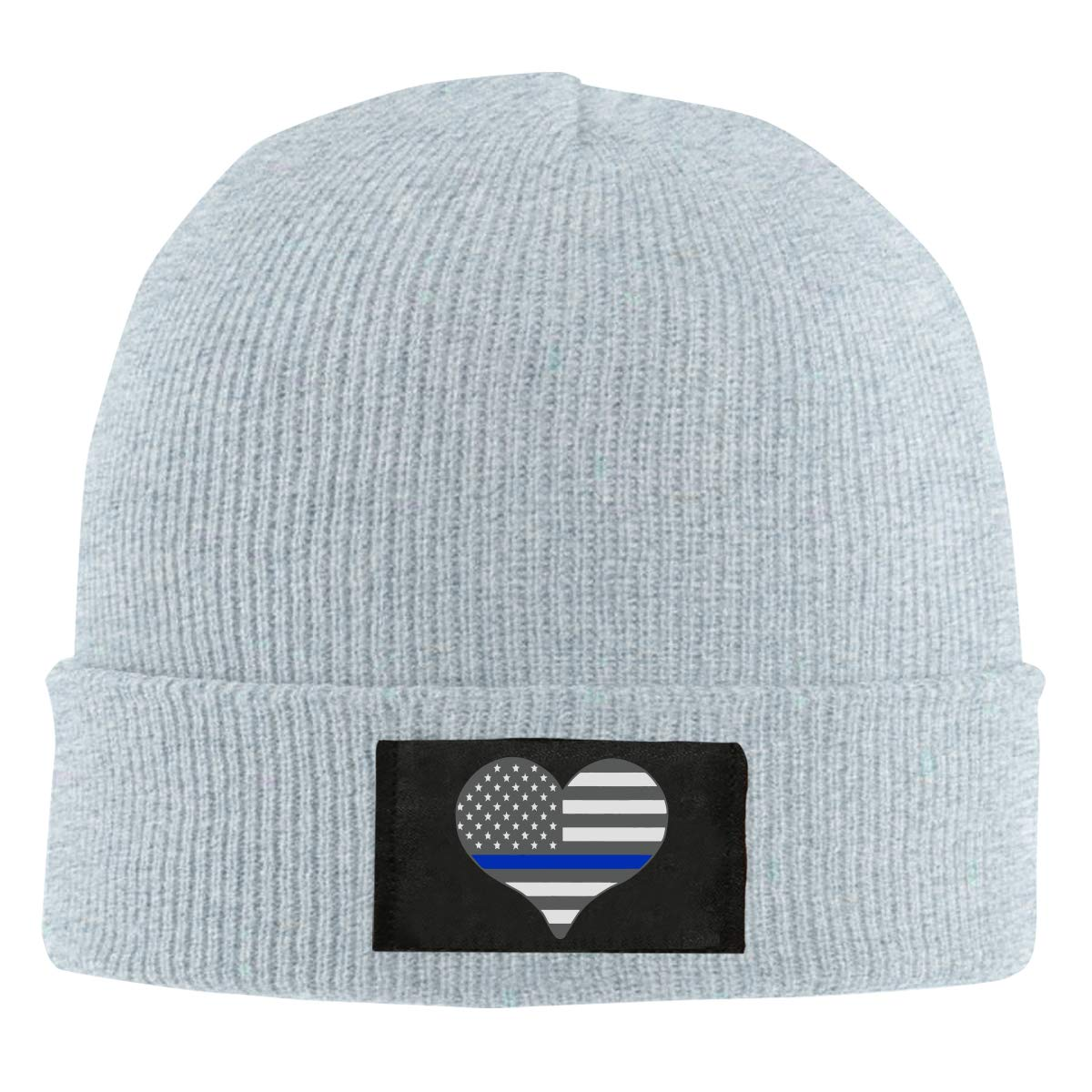 100/% Acrylic Thick Beanies Cap Mens and Womens I Love Police Thin Blue Line Knit Cap