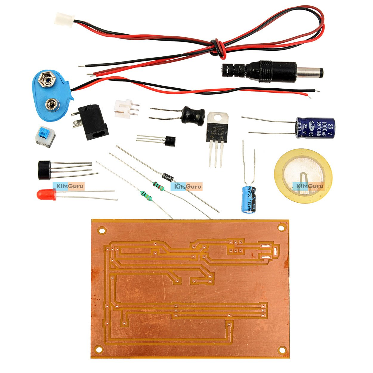 Kitsguru Diy Kit Piezo Electric Buzzer Lgkt106 Electronics Mini Circuit Today Projects Diagram Ask Home