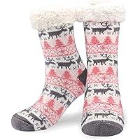 Emooqi Calcetines de estar por casa, Forro Polar Calcetines Inicio Calcetines Casuales Antideslizantes Calcetines…