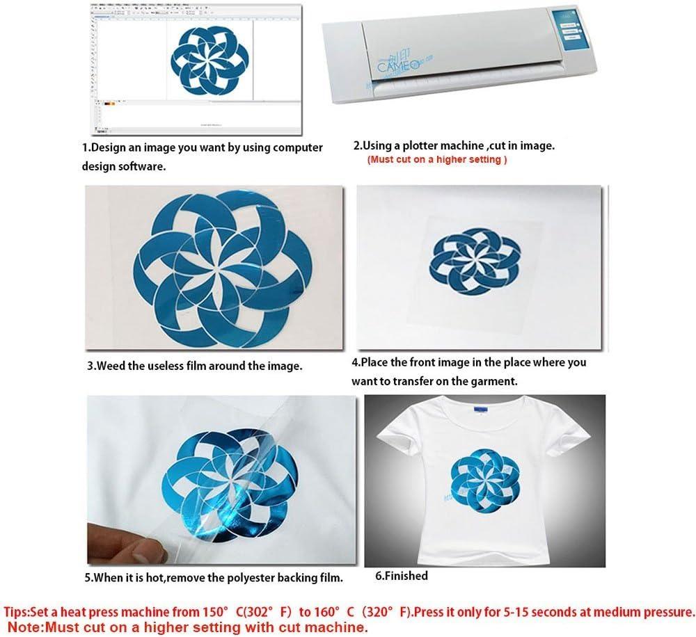 Prensa para planchar hoho metálico rosa hoja de papel de transferencia de calor de vinilo corte patrón película HTV 20