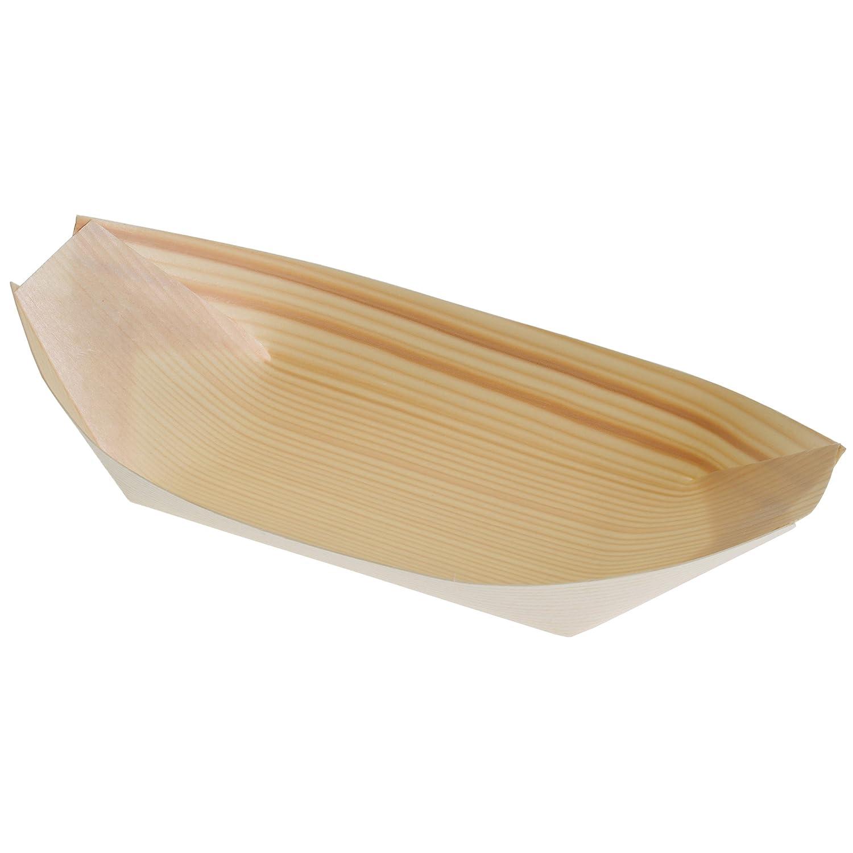 Extra large usa e getta legno barche 20.5x 10cm–Confezione da 50–usa e getta cibo piatti da portata TableCraft BAMDB8