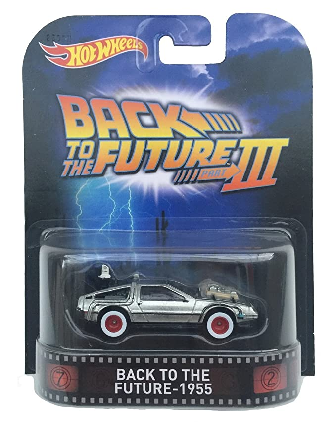 """Back To The Future 1955 Time Machine """"Back To The Future Part Iii"""" Hot Wheels 2015 Retro Series 1/64 Die Cast Vehicle"""