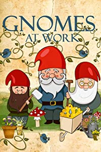"Garden Gnomes at Work Decorative Garden Flag, Double Sided, 12"" x 18"" Inches, Flowers and Mushroom Sign Banner"