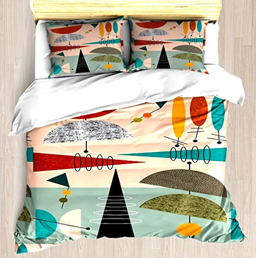 Amazon.com: NTCBED Mid Century Modern Abstract #59   Duvet Cover