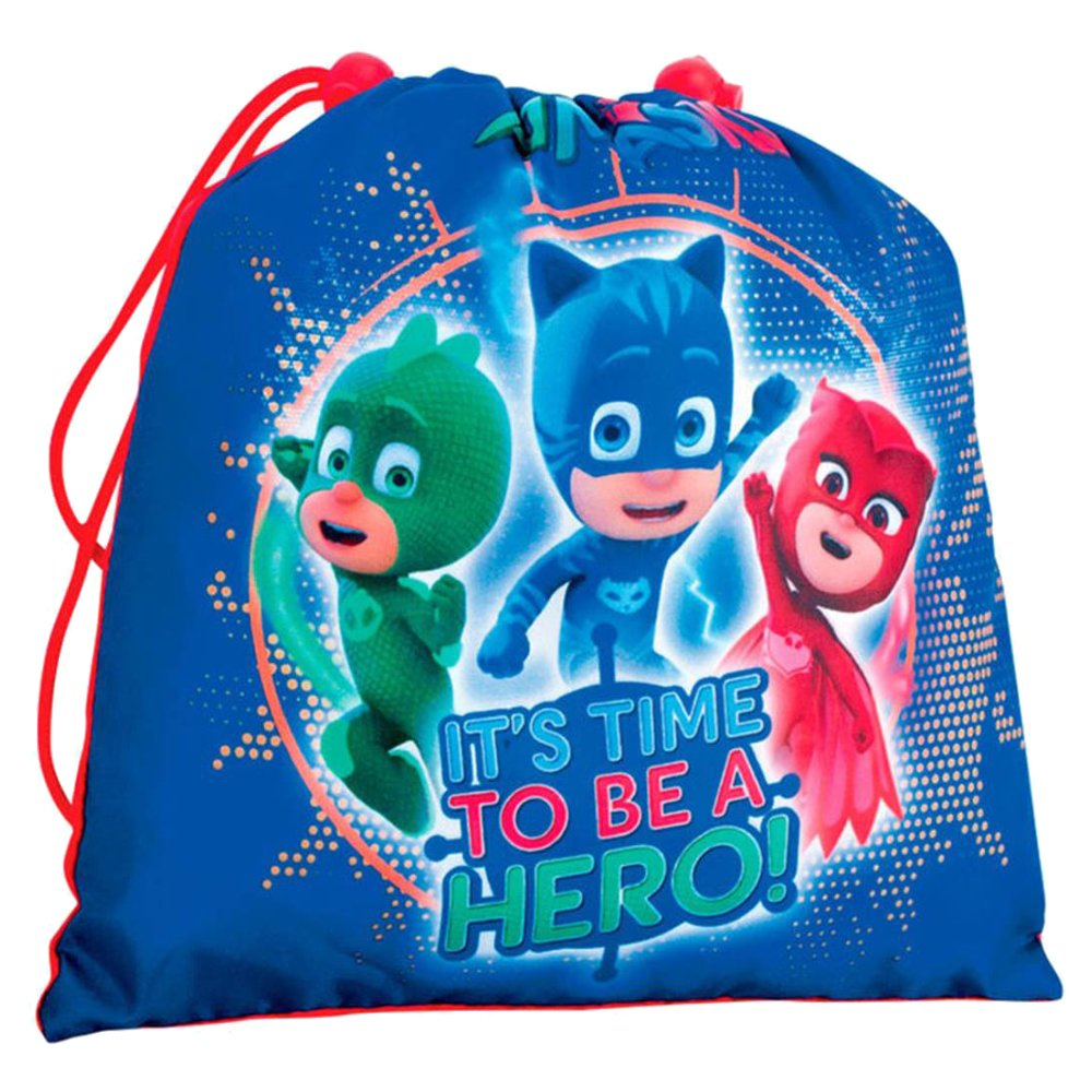 PJ MASKS Kids' It's Time to be a Hero' Gym/Swim Bag, Multicolour, One Size Perona 55493