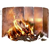 Aluminum Folding Wind Screen - For Camping Backpacking Hiking & Outdoor Use - Compact Panel Design - Use With Alcohol Butane or Wood Cooking Solo Stove as Windshield - Carrying Case Included