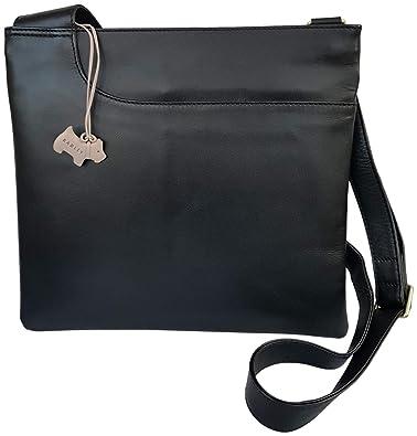 874b32fa4c02d RADLEY 'Pocket Bag' Black Leather Large Across Body Bag - RRP £129.00