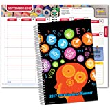 "Dated Middle School or High School Student Planner for Academic Year 2017-2018 (Matrix Style - 5.5""x8.5"")"