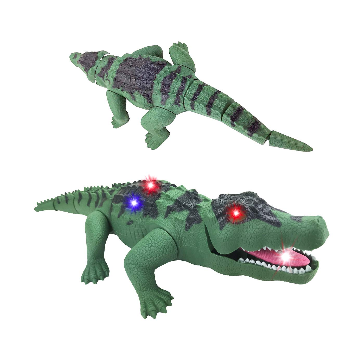 Liberty Imports Crocodile Toy Battery Operated 16'' Alligator with Moving Jaws, Lights and Realistic Sound by Liberty Imports (Image #5)
