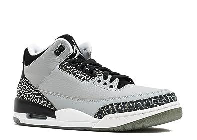 Amazon Com Nike Mens Air Jordan 3 Retro Wolf Grey Metallic Silver