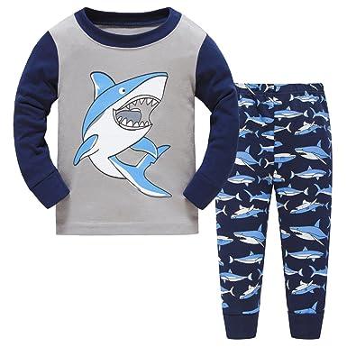 com hugbug boys shark pajamas set t clothing hugbug boys pajamas shark for toddler and kid boys 2t