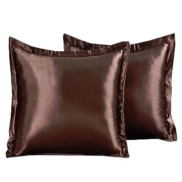 Amazon.com: Funda de almohada de satén con textura lujosa de ...