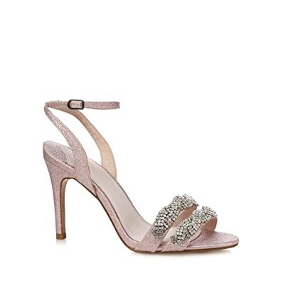 Faith Diamante Sandals pink size 5