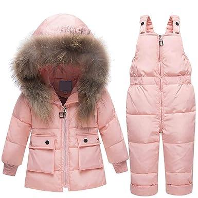 6c832a3f6 Amazon.com  Winter for Boys Girls Ski Suit Children Duck Down ...