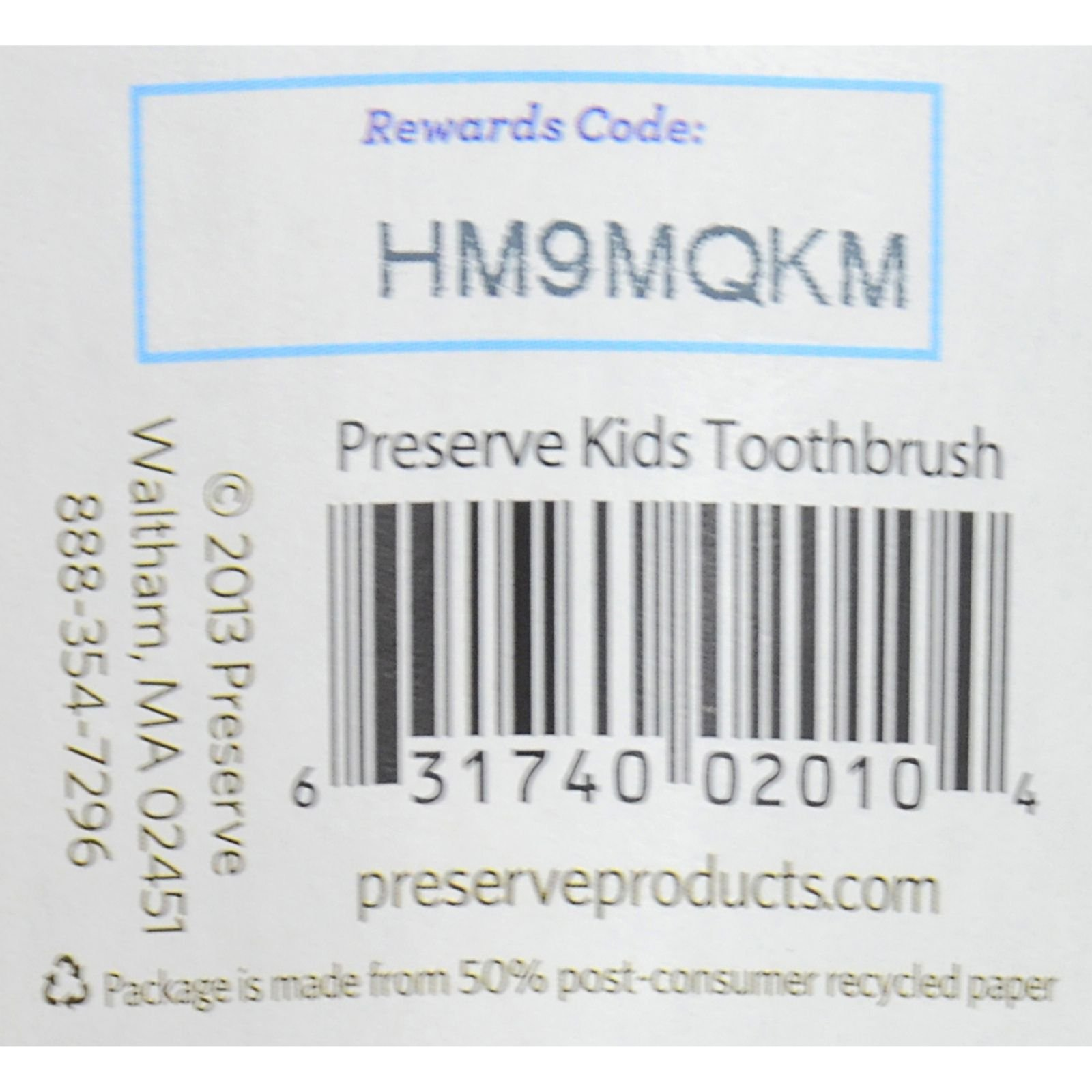 Preserve Kids Toothbrush- 6 Pack - Assorted Colors (Pack of 2)
