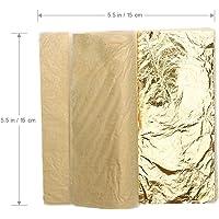 Sabahz Trading Gold Leaf Sheets Imitation Gold Foil for Art Crafts Decoration Gilding Crafting Frames 25 Sheets