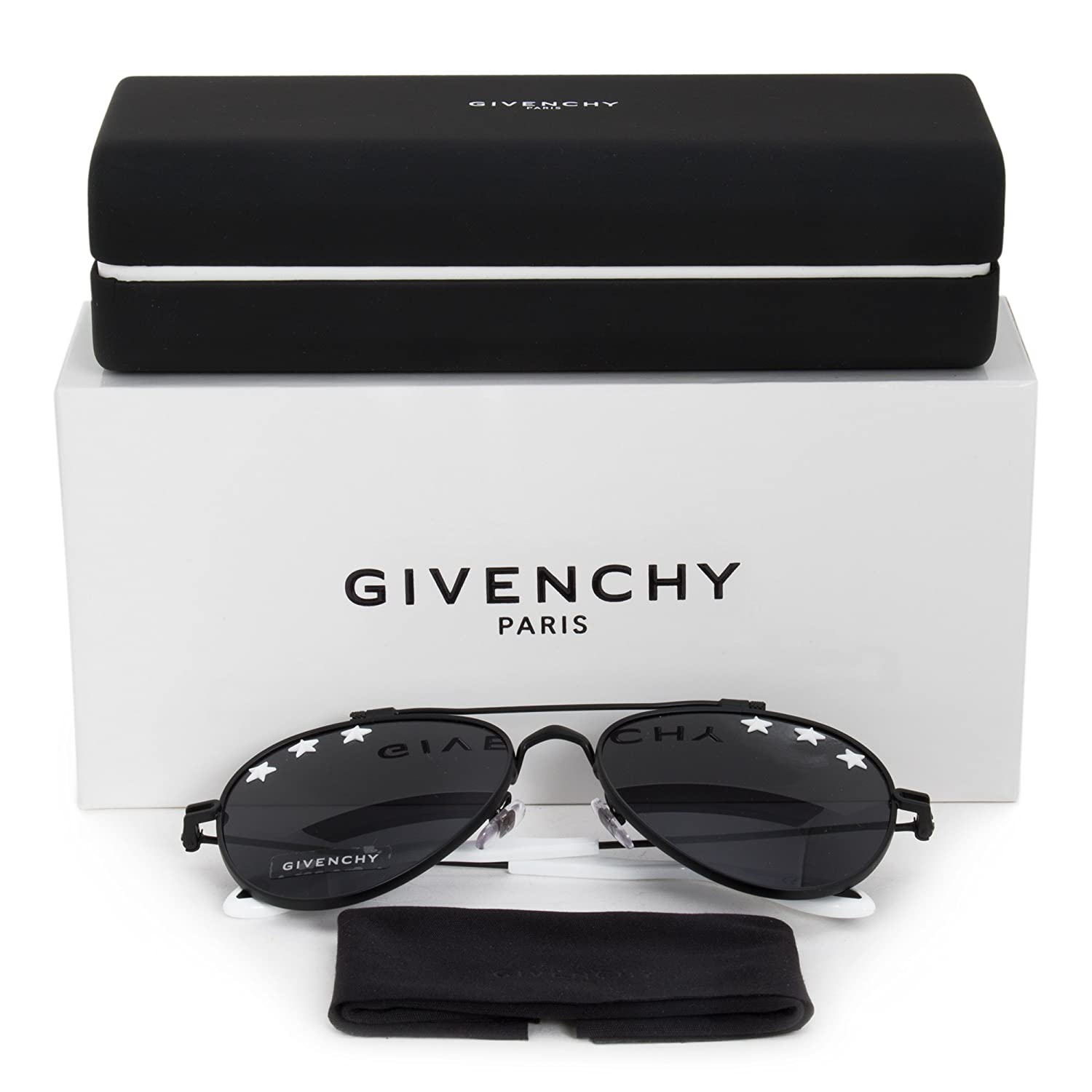 8062f1a082 Givenchy GV 7057 STARS BLACK WHITE GREY unisex Sunglasses  Givenchy  Amazon. ca  Clothing   Accessories