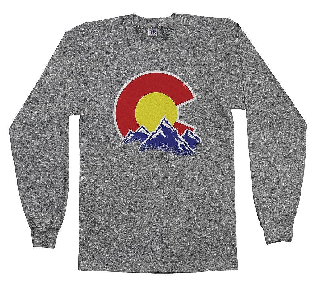 c22cb57d4857 Amazon.com: Threadrock Kids Colorado Mountain Youth Long Sleeve T-Shirt:  Clothing