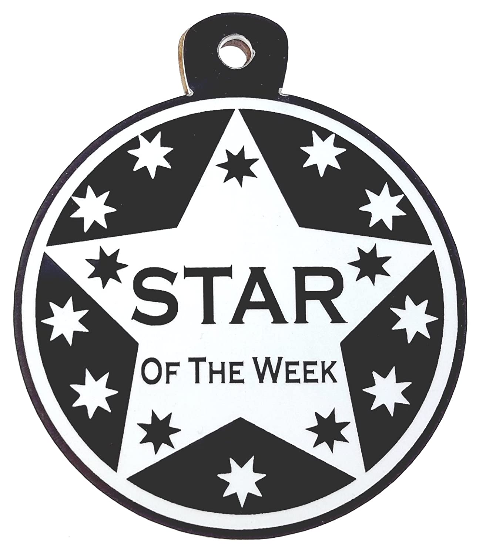 Gran estrella de la semana medalla tamaño grande elección de colores disponibles, negro Origin