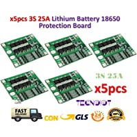 TECNOIOT 5pcs 3S 25A Li-Ion 18650 BMS PCM Battery Protection Board with Balance BMS PCM