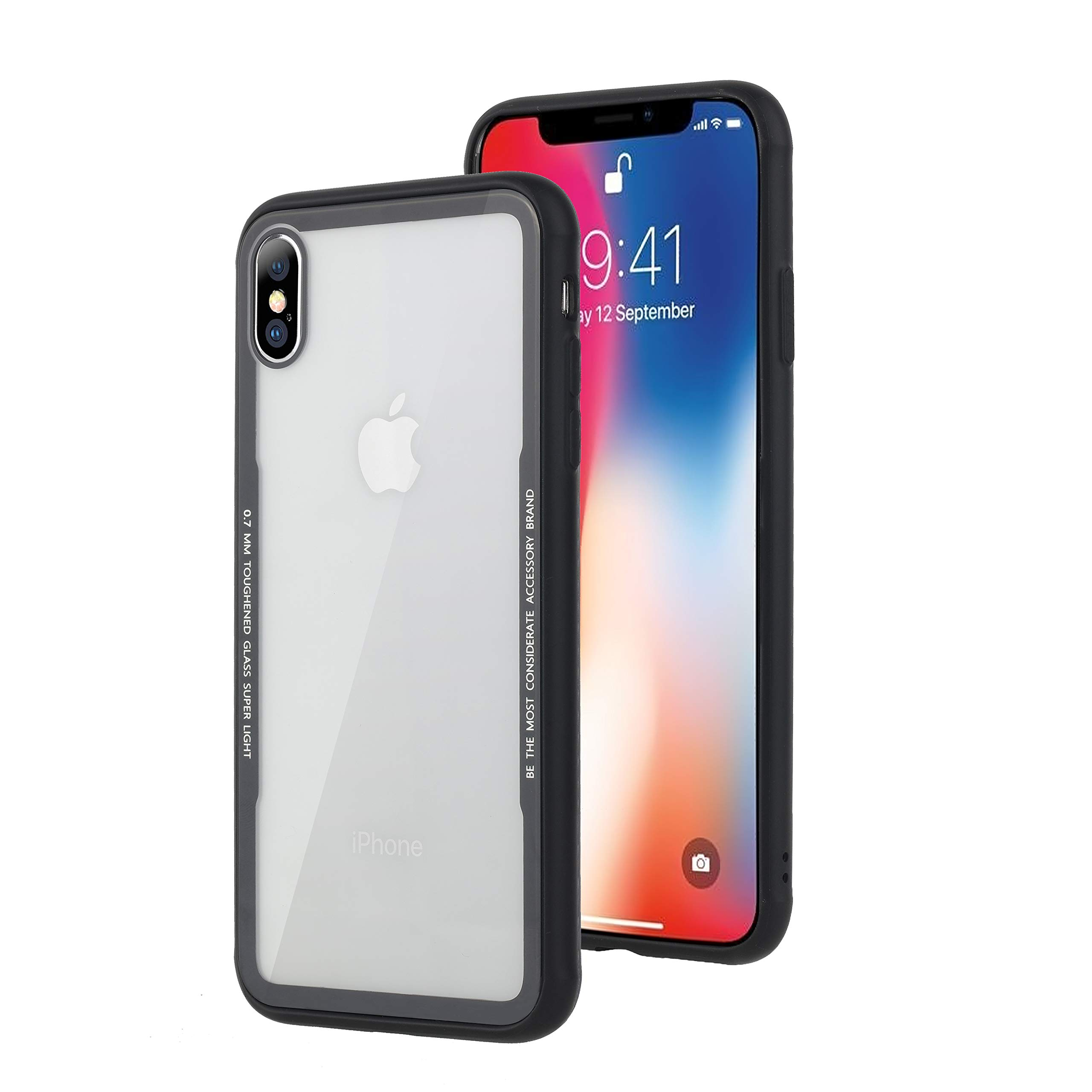 new style 54ba0 b4967 SPHLEAN Compatible iPhone Xs Max Case ,Clear Thin Tempered Glass ...