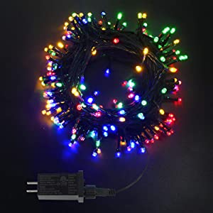 EEW 95FT 240LED Christmas Lights, Waterproof Indoor/Outdoor Christmas Decorations Lights, 8 Modes Green Wire Clear Bulbs Twinkle Lights for Xmas Trees, Garden, Wedding, Parties (Multicolor)