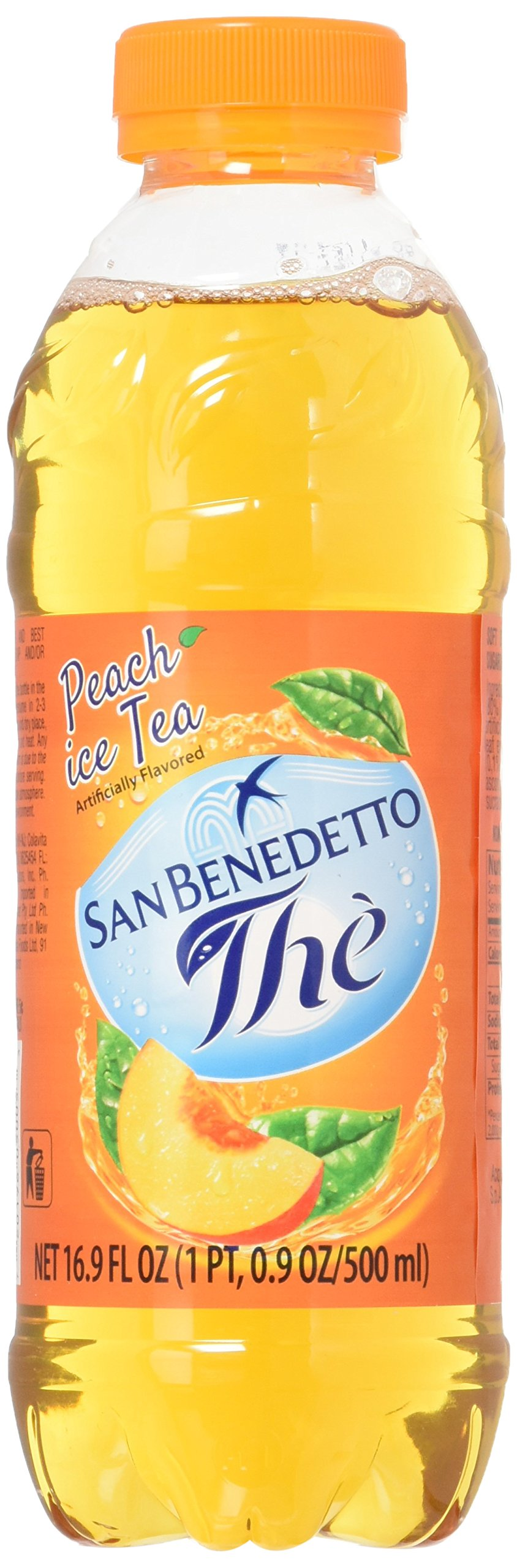 San Benedetto Iced Tea, Peach, 12 Count