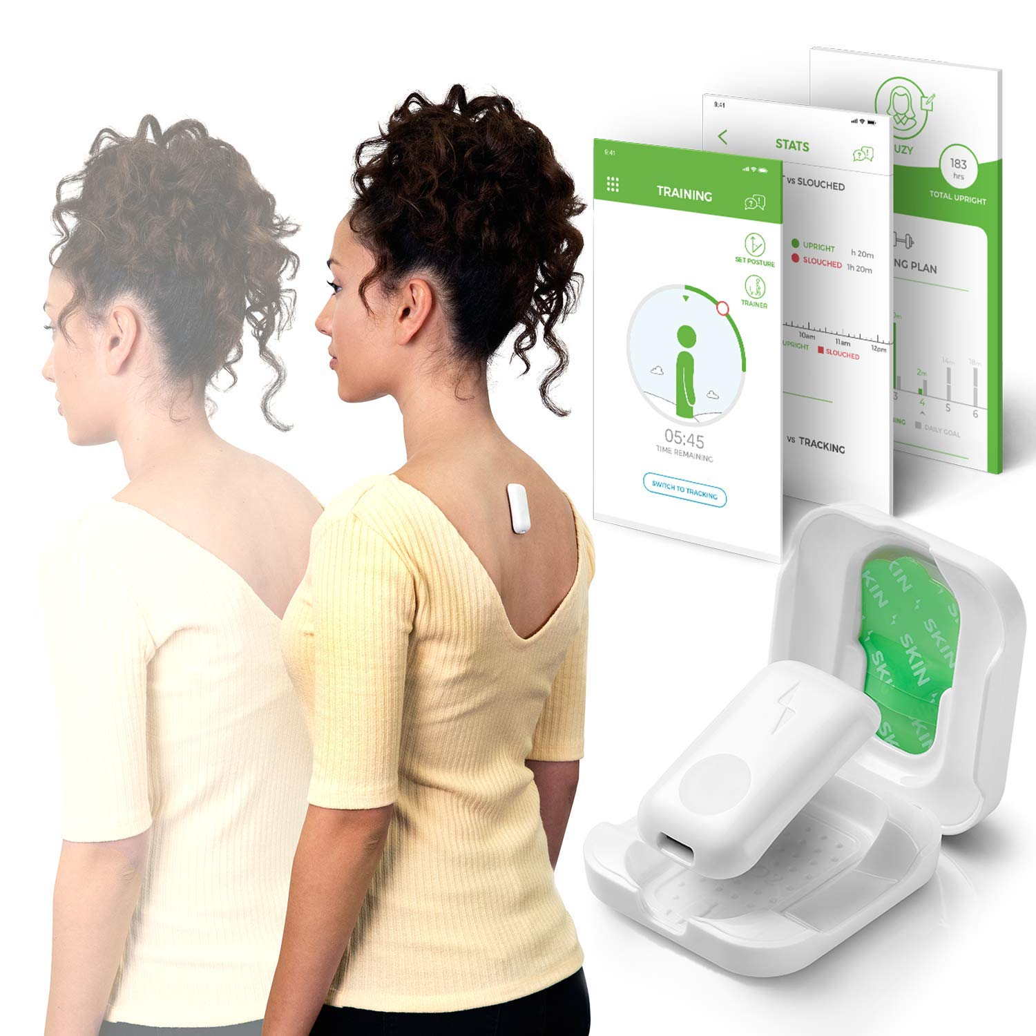 Upright GO 2 NEW Posture Trainer and Corrector for Back | Strapless, Discrete and Easy to Use | Complete with App and Training Plan | Back Health Benefits and Confidence Builder by Upright GO