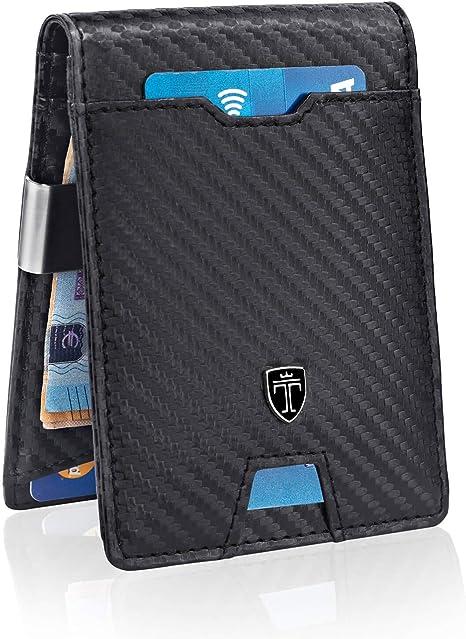 Homme Portefeuille Business Carte de crédit//argent Support Smart en Cuir Souple RFID Bloquant