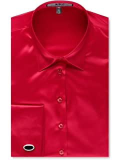 39e9af4af4 HAWES & CURTIS Womens Fitted Double Cuff Satin Elegant Smart Casual Shirt